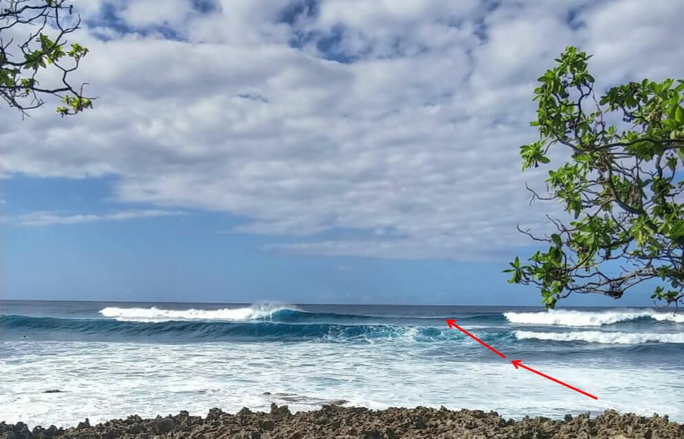 Rip Strömung beim Surfen