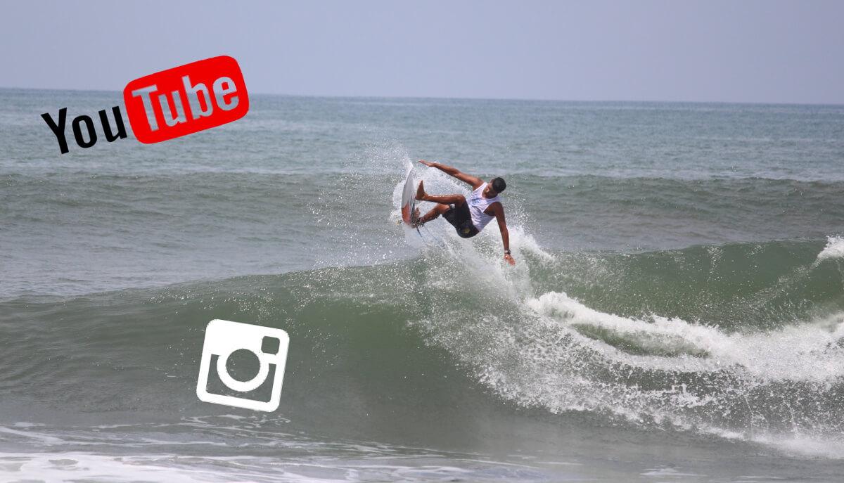 Social Media Channel zum Thema Wellenreiten lernen