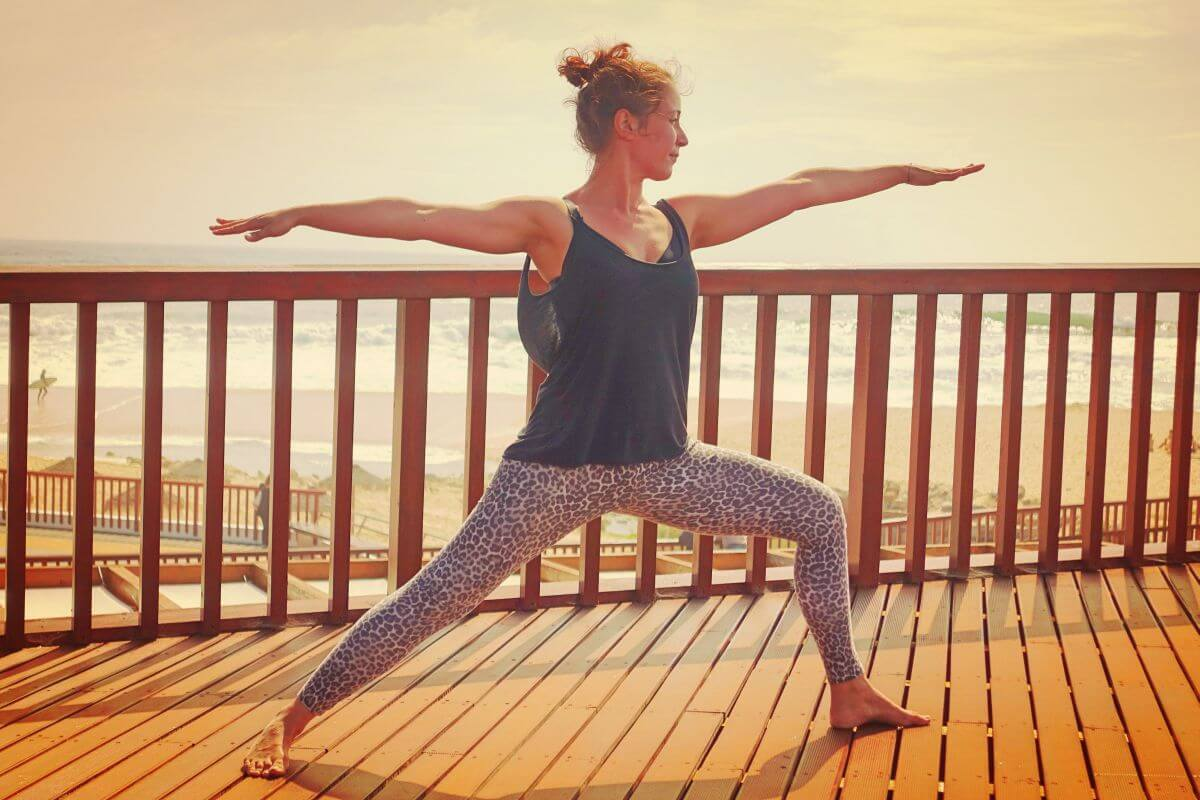 Yoga Surfen Krieger 2