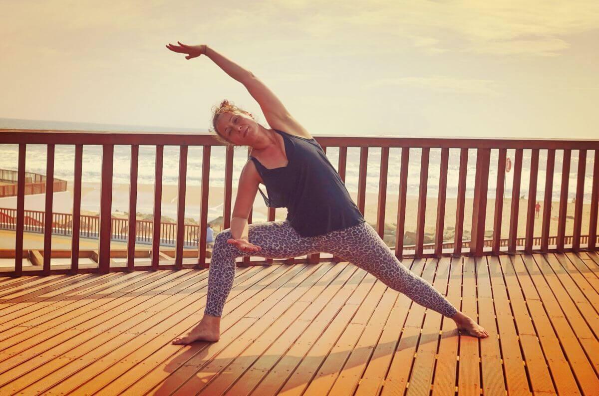 Yoga & Surfen Seitwinkel
