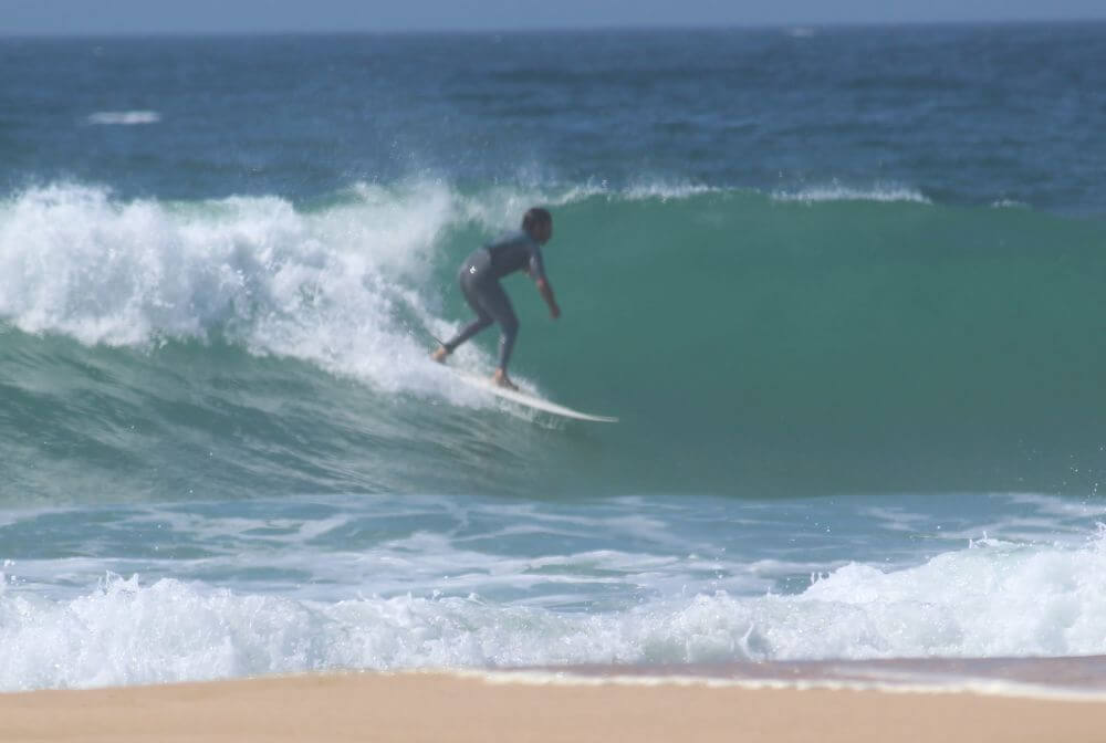 Goofy Fußstellung Surfboard