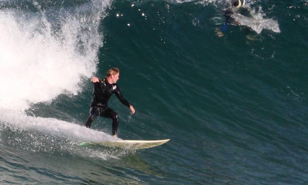 Regular Stellung Surfboard dem Surfboard