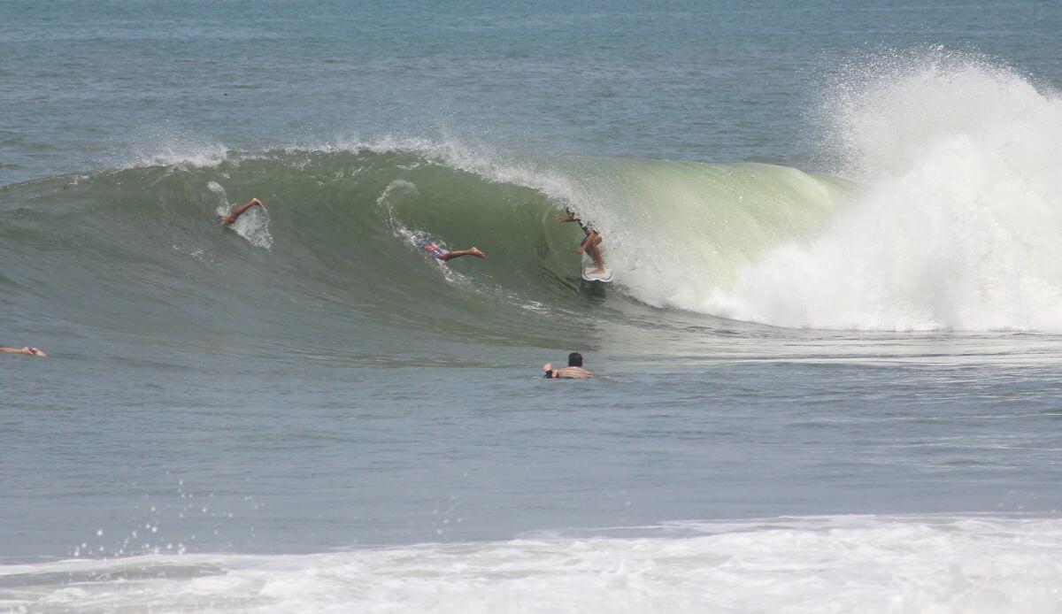 Surfer im Tube