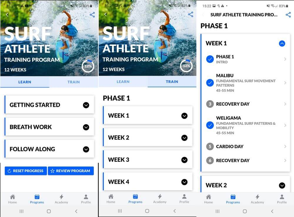 Surf Fitness App Review
